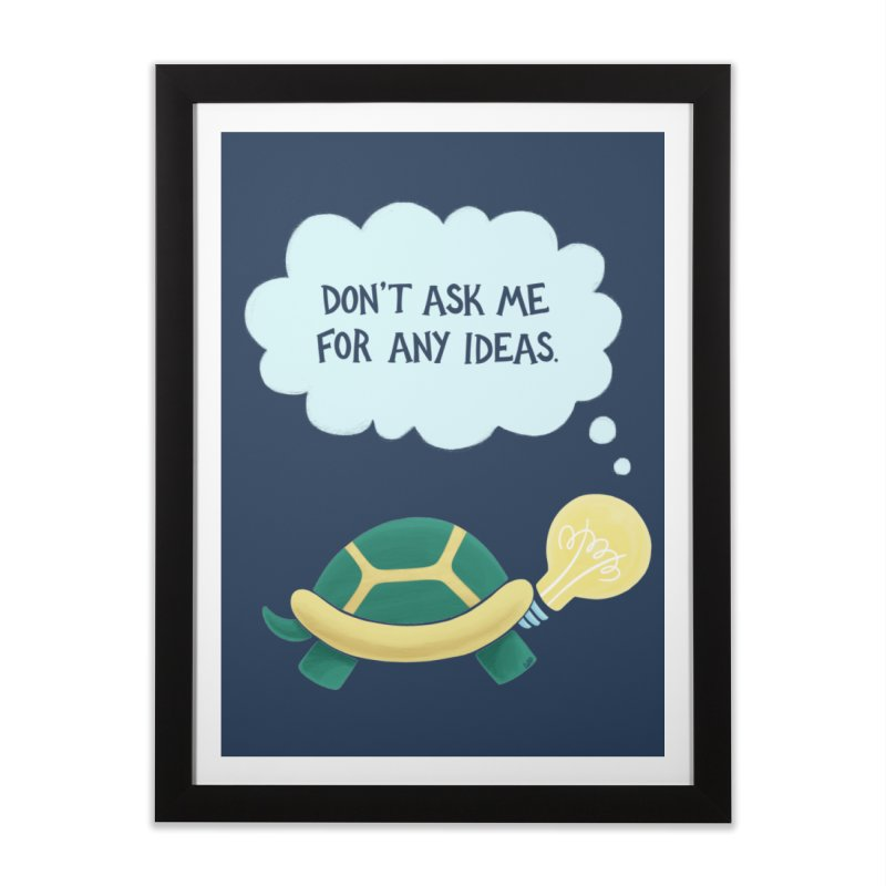 Idea Turtle Home Framed Fine Art Print by Lupi Art + Illustration
