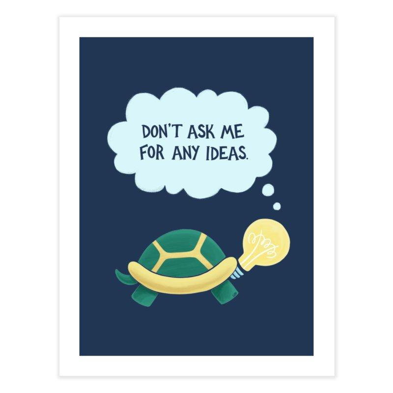 Idea Turtle Home Fine Art Print by Lupi Art + Illustration