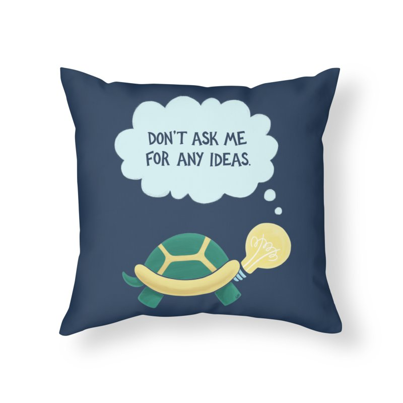 Idea Turtle Home Throw Pillow by Lupi Art + Illustration