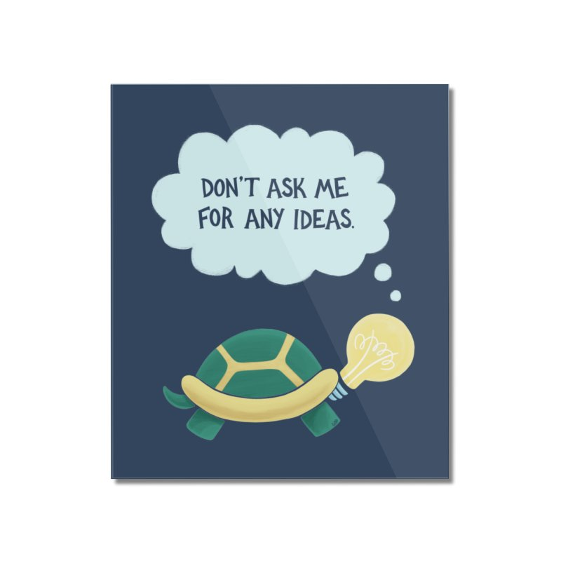 Idea Turtle Home Mounted Acrylic Print by Lupi Art + Illustration