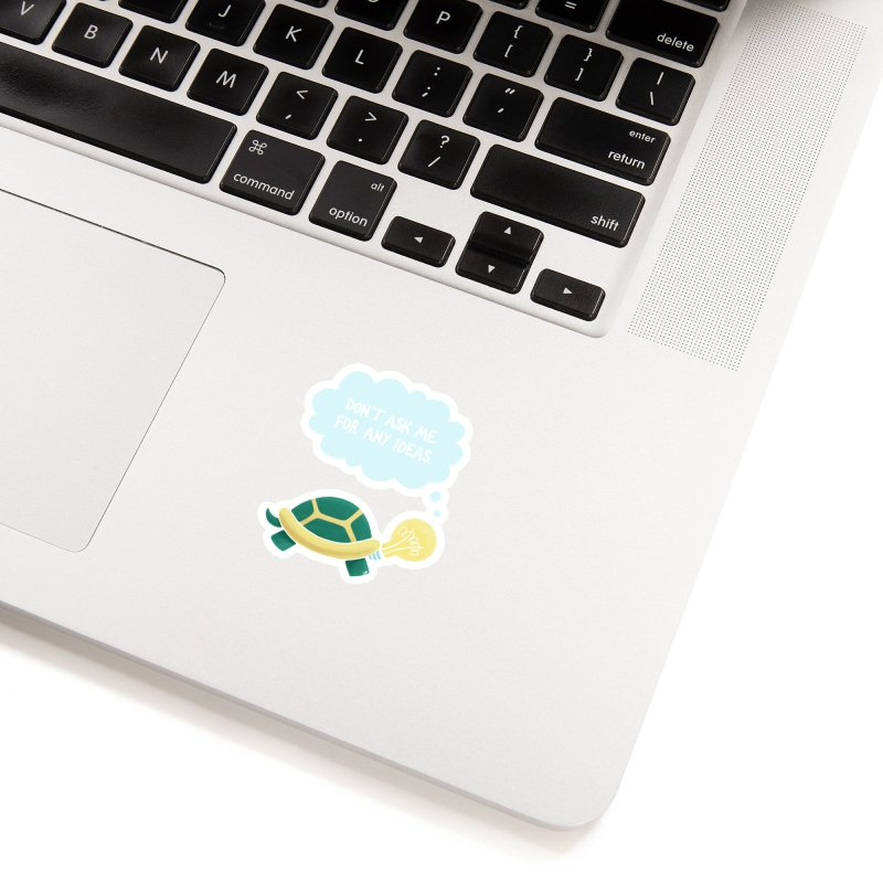 Idea Turtle Accessories Sticker by Lupi Art + Illustration