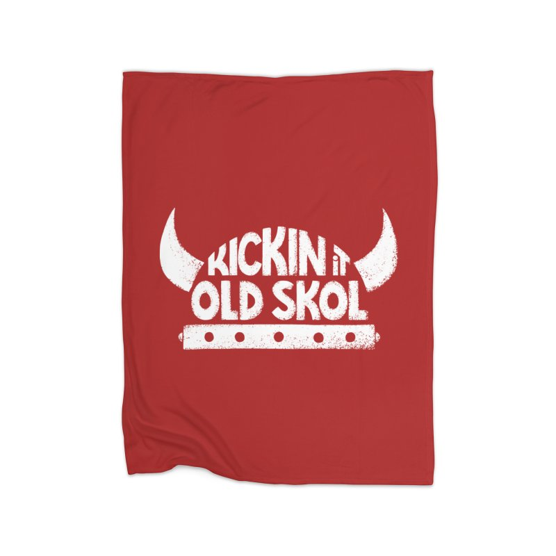 Old Skol Home Fleece Blanket Blanket by Lupi Art + Illustration