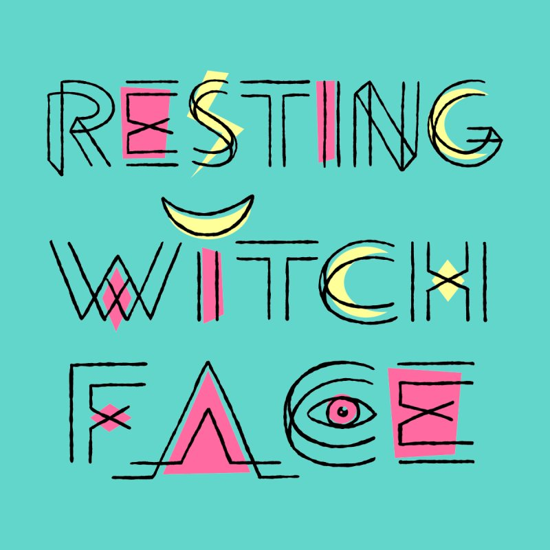 Resting Witch Face by Lupi Art + Illustration