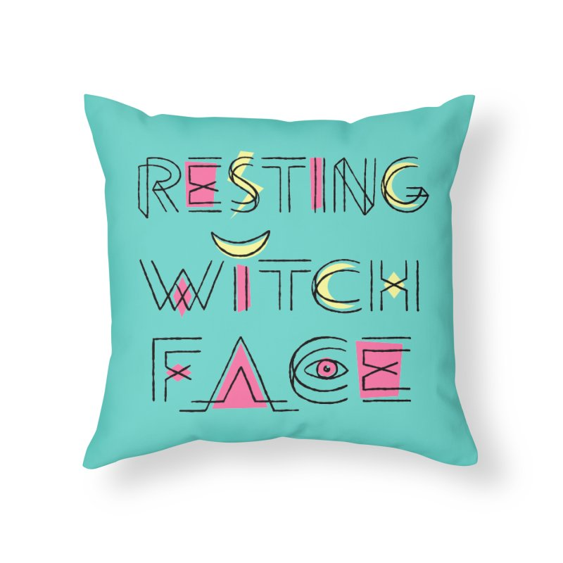 Resting Witch Face Home Throw Pillow by Lupi Art + Illustration