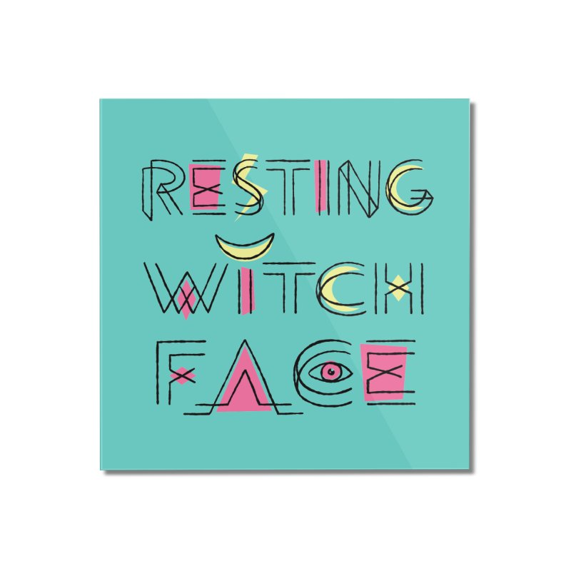Resting Witch Face Home Mounted Acrylic Print by Lupi Art + Illustration