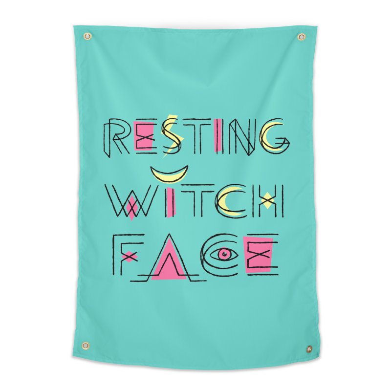 Resting Witch Face Home Tapestry by Lupi Art + Illustration