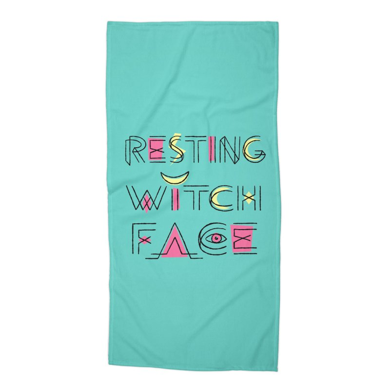 Resting Witch Face Accessories Beach Towel by Lupi Art + Illustration