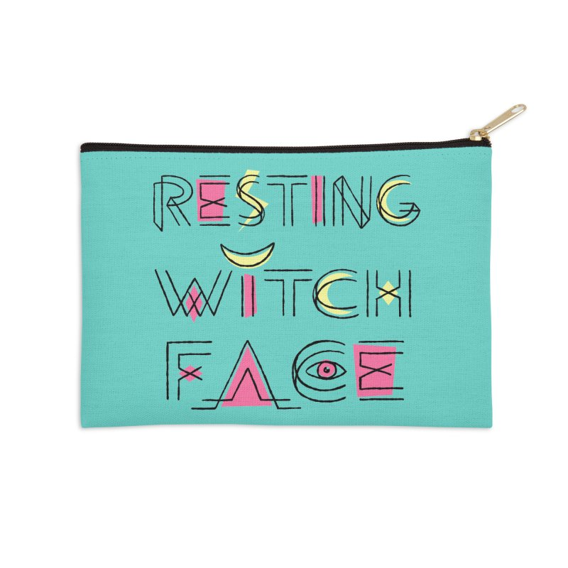 Resting Witch Face Accessories Zip Pouch by Lupi Art + Illustration