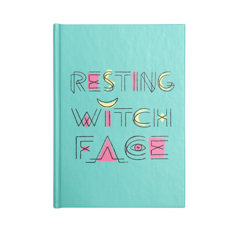 Resting Witch Face Accessories Blank Journal Notebook by Lupi Art + Illustration