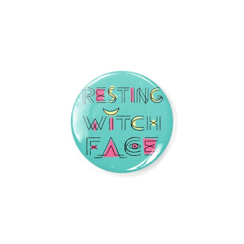 Resting Witch Face Accessories Button by Lupi Art + Illustration