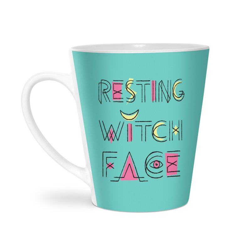 Resting Witch Face Accessories Latte Mug by Lupi Art + Illustration