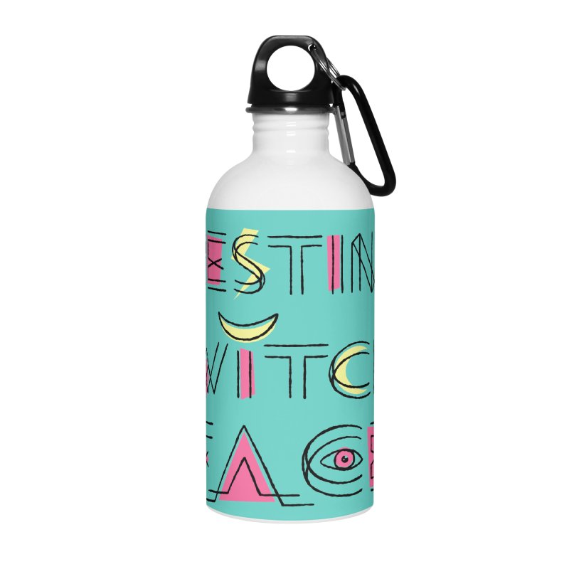 Resting Witch Face Accessories Water Bottle by Lupi Art + Illustration