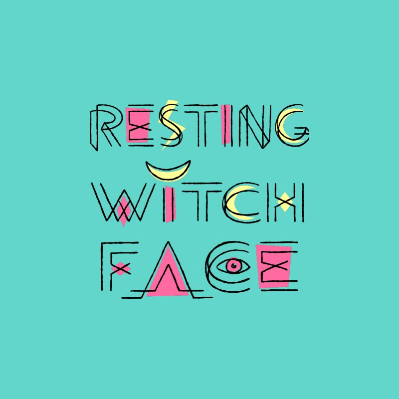 Resting Witch Face Fitted T-Shirt by Lupi Art + Illustration