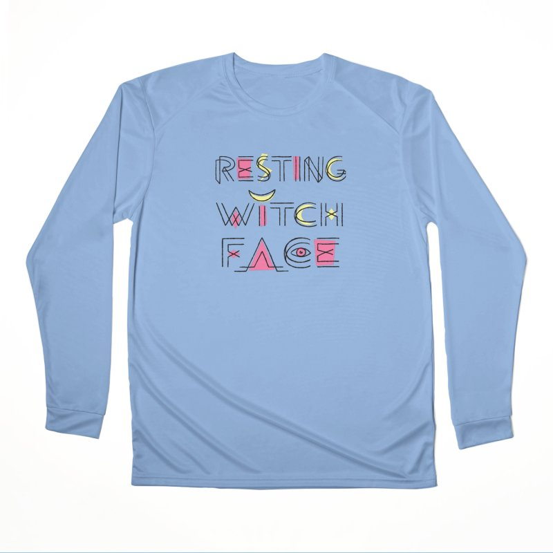 Resting Witch Face Men's Performance Longsleeve T-Shirt by Lupi Art + Illustration