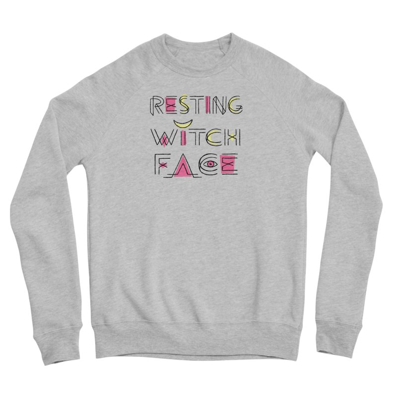 Resting Witch Face Women's Sponge Fleece Sweatshirt by Lupi Art + Illustration