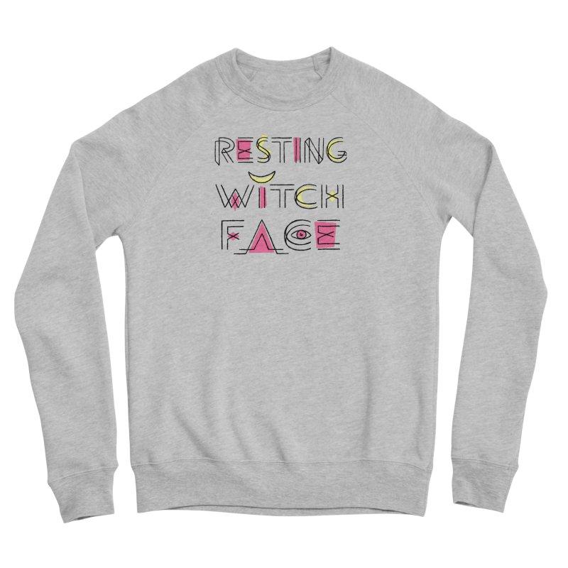Resting Witch Face Men's Sponge Fleece Sweatshirt by Lupi Art + Illustration
