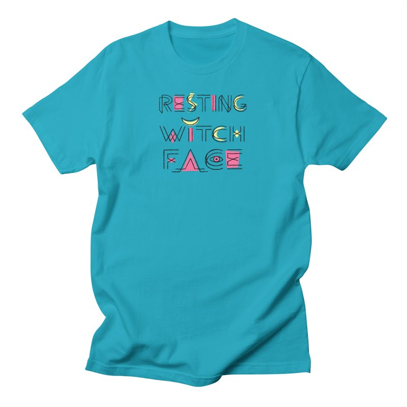 Resting Witch Face Straight Cut T-Shirt by Lupi Art + Illustration