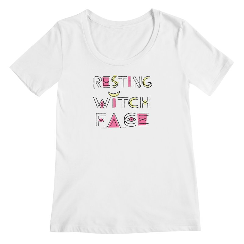 Resting Witch Face Women's Regular Scoop Neck by Lupi Art + Illustration
