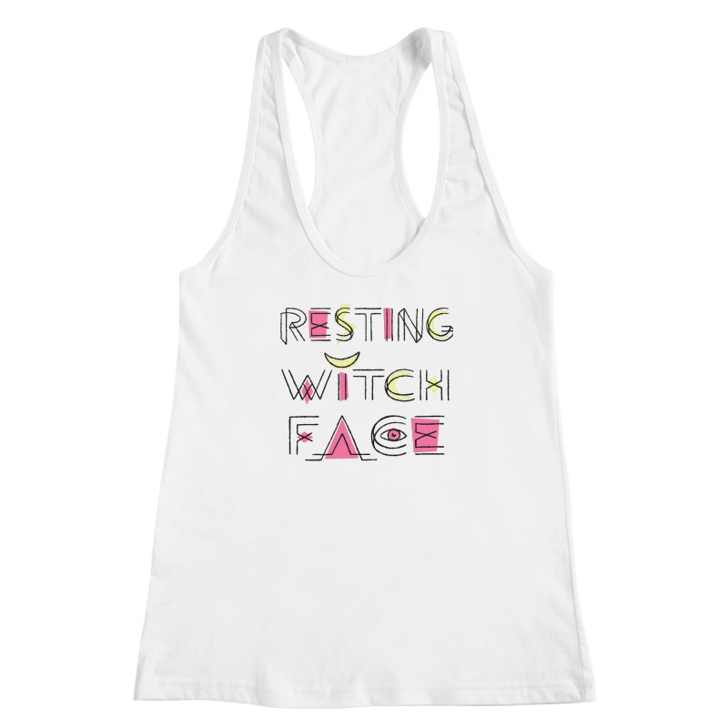 Resting Witch Face Fitted Tank by Lupi Art + Illustration