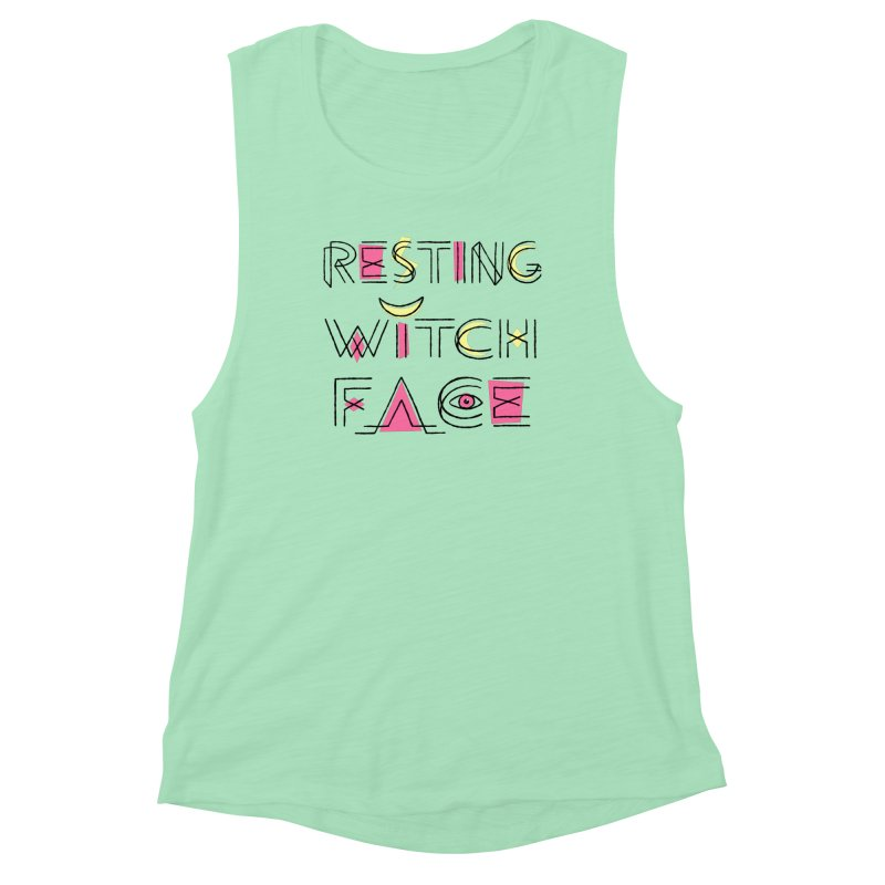 Resting Witch Face Women's Muscle Tank by Lupi Art + Illustration