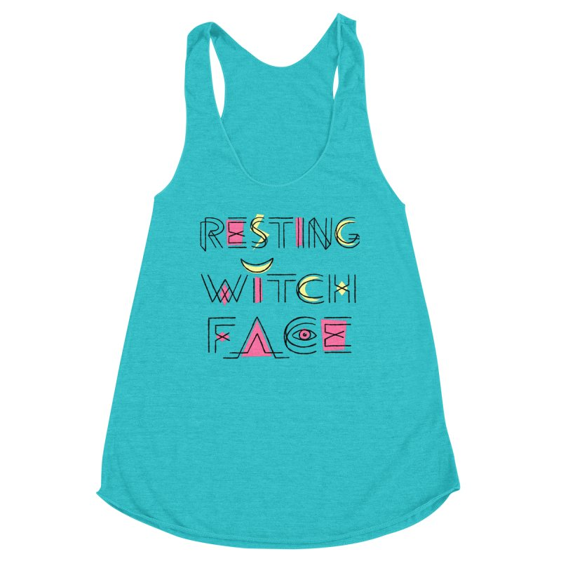Resting Witch Face Women's Racerback Triblend Tank by Lupi Art + Illustration