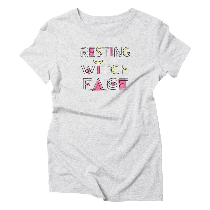 Resting Witch Face Women's Triblend T-Shirt by Lupi Art + Illustration