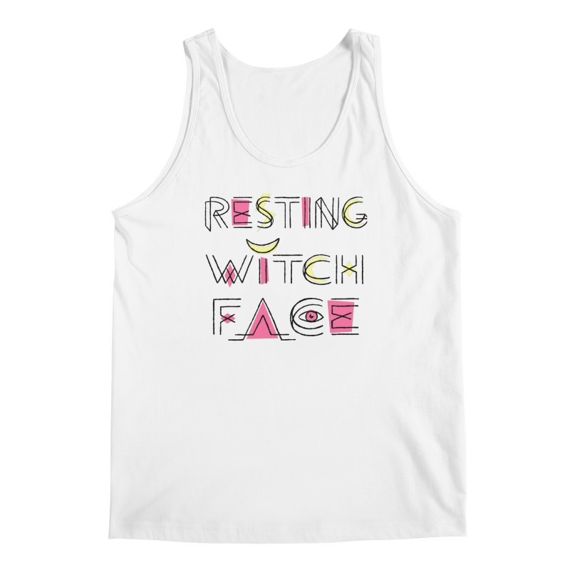 Resting Witch Face Men's Regular Tank by Lupi Art + Illustration