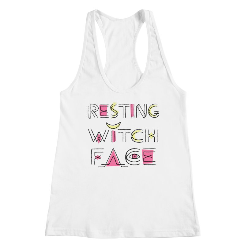 Resting Witch Face Women's Racerback Tank by Lupi Art + Illustration