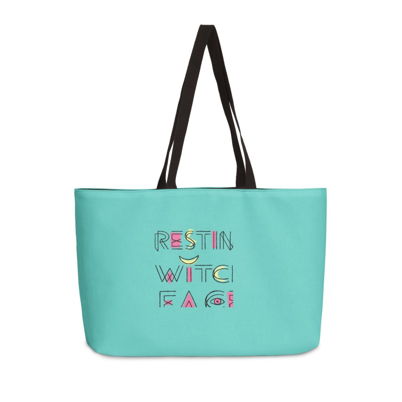 Resting Witch Face Accessories Weekender Bag Bag by Lupi Art + Illustration