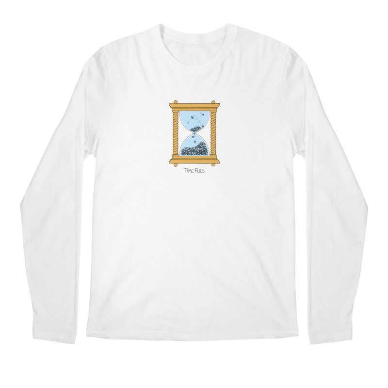 Time Flies Men's Longsleeve T-Shirt by Lupi Art + Illustration