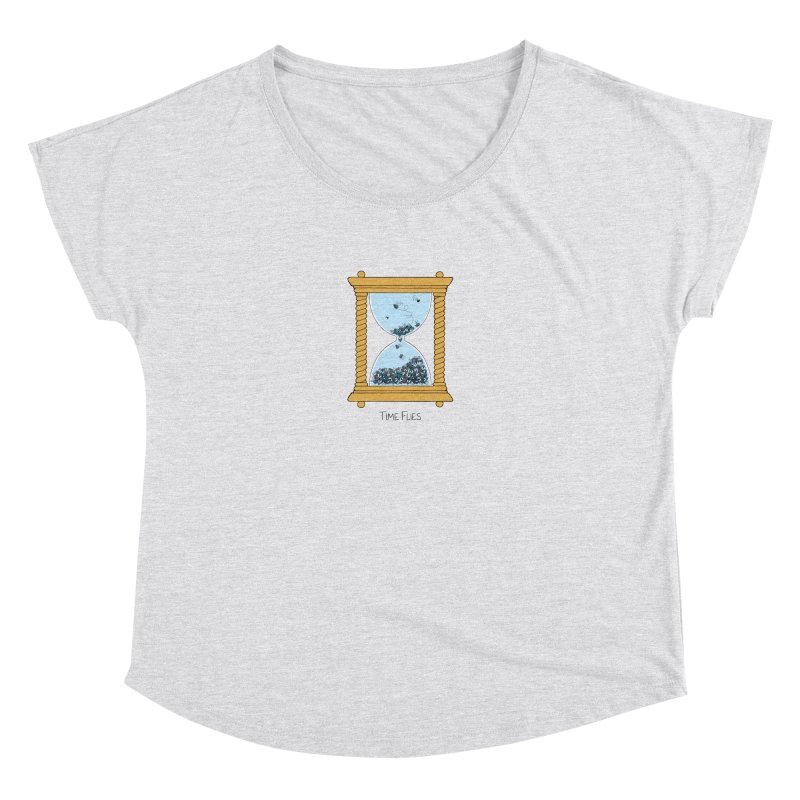 Time Flies Women's Dolman Scoop Neck by Lupi Art + Illustration