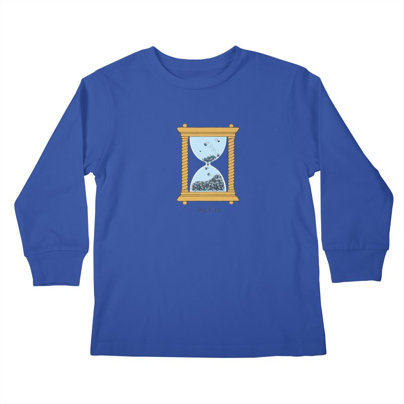 Time Flies Kids Longsleeve T-Shirt by Lupi Art + Illustration