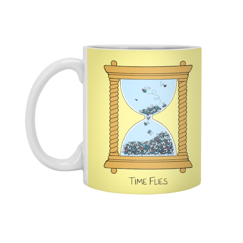 Time Flies Accessories Mug by Lupi Art + Illustration
