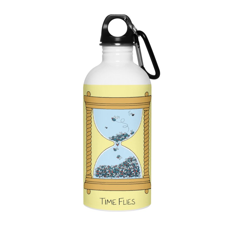 Time Flies Accessories Water Bottle by Lupi Art + Illustration
