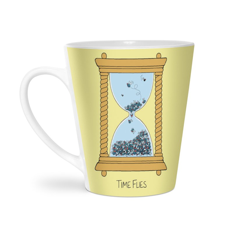 Time Flies Accessories Latte Mug by Lupi Art + Illustration