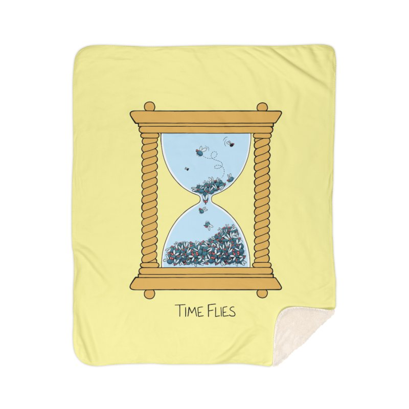 Time Flies Home Sherpa Blanket Blanket by Lupi Art + Illustration