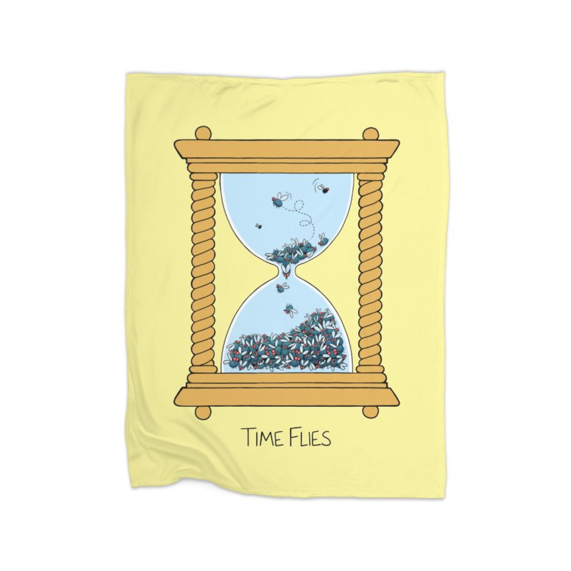 Time Flies Home Fleece Blanket Blanket by Lupi Art + Illustration