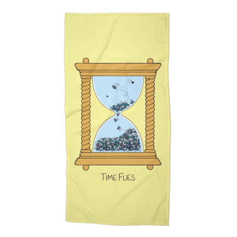 Time Flies Accessories Beach Towel by Lupi Art + Illustration