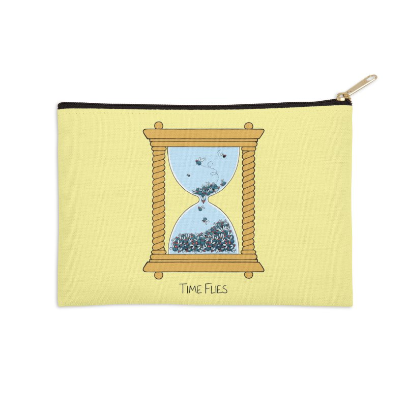 Time Flies Accessories Zip Pouch by Lupi Art + Illustration