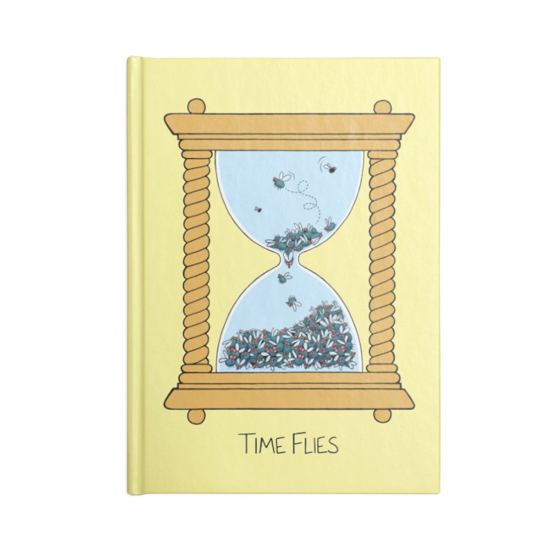Time Flies Accessories Notebook by Lupi Art + Illustration
