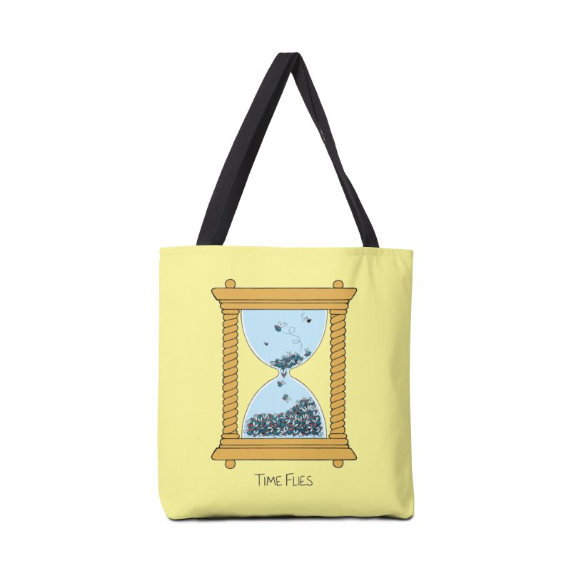 Time Flies Accessories Tote Bag Bag by Lupi Art + Illustration