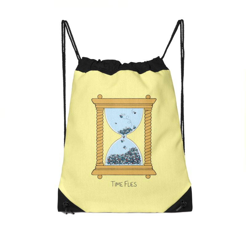 Time Flies Accessories Bag by Lupi Art + Illustration