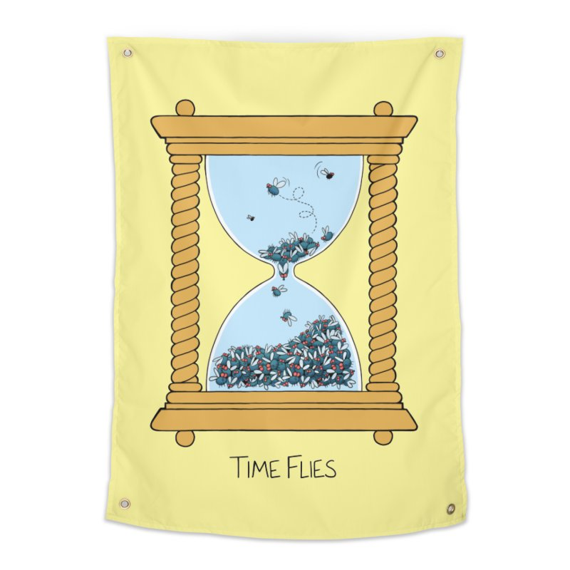 Time Flies Home Tapestry by Lupi Art + Illustration