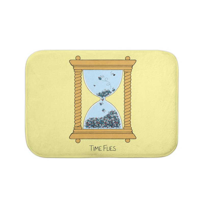 Time Flies Home Bath Mat by Lupi Art + Illustration