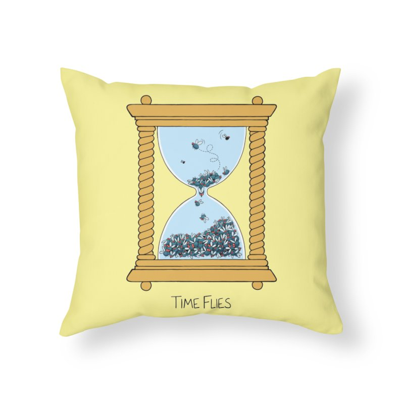Time Flies Home Throw Pillow by Lupi Art + Illustration