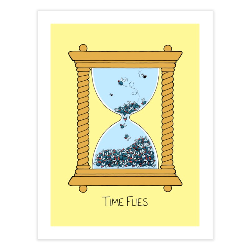 Time Flies Home Fine Art Print by Lupi Art + Illustration