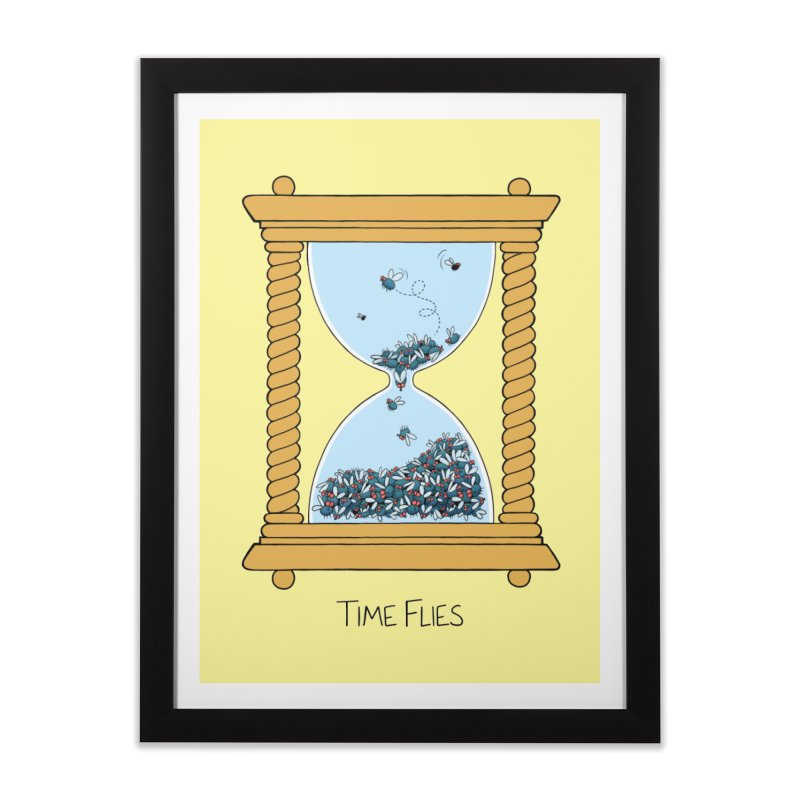 Time Flies Home Framed Fine Art Print by Lupi Art + Illustration
