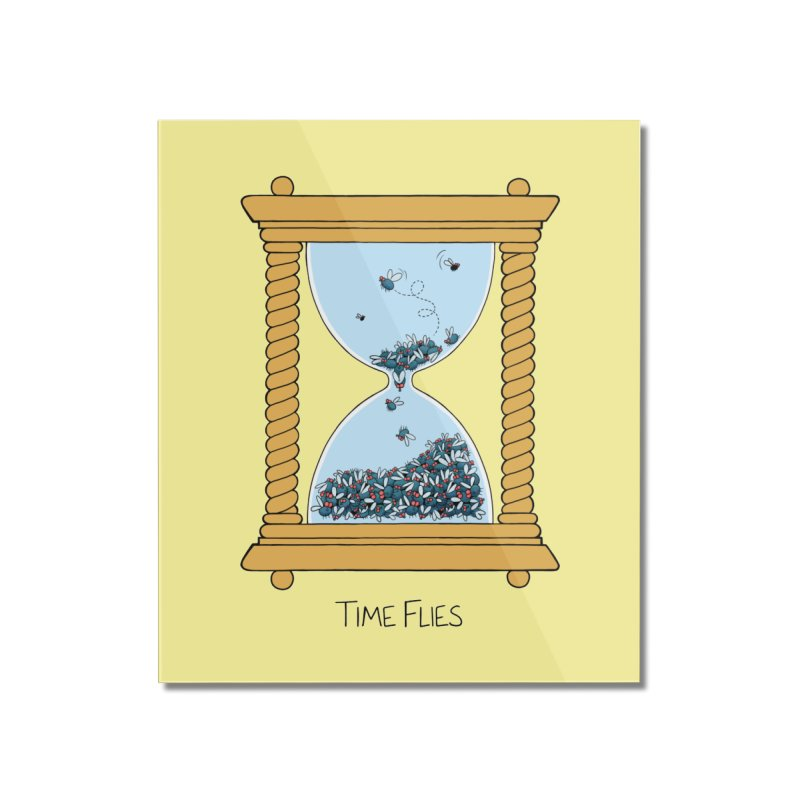 Time Flies Home Mounted Acrylic Print by Lupi Art + Illustration