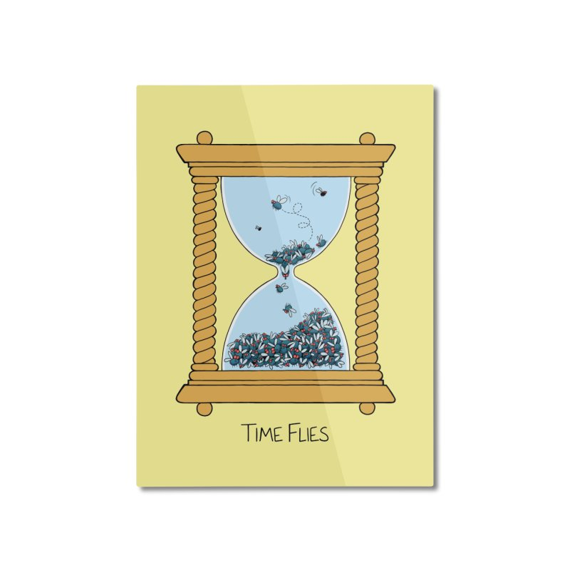 Time Flies Home Mounted Aluminum Print by Lupi Art + Illustration