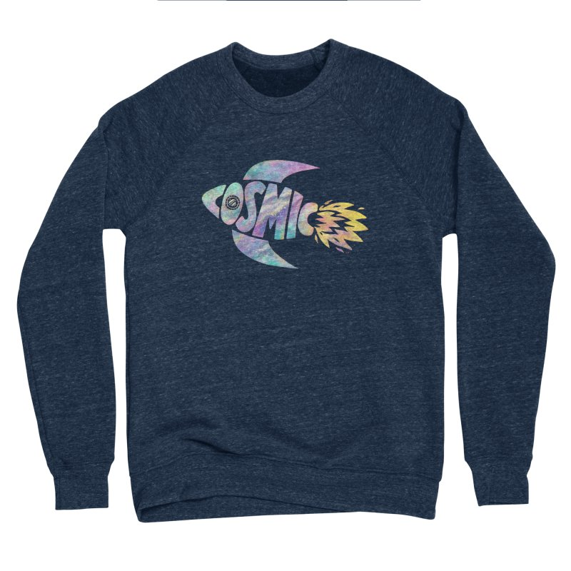 Cosmic Spaceship Men's Sponge Fleece Sweatshirt by Lupi Art + Illustration